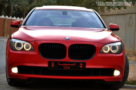 Red BMW 7 Series F01 In Dubai