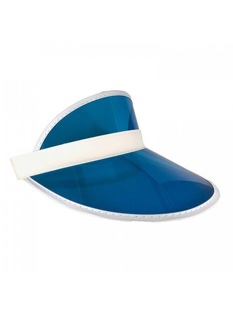 Athletic Club Sun Visor Hat (Clear- Plastic) for Women- Men - Ocean Blue -  CC17YLGI6GR - Hats   Caps dcca029720d