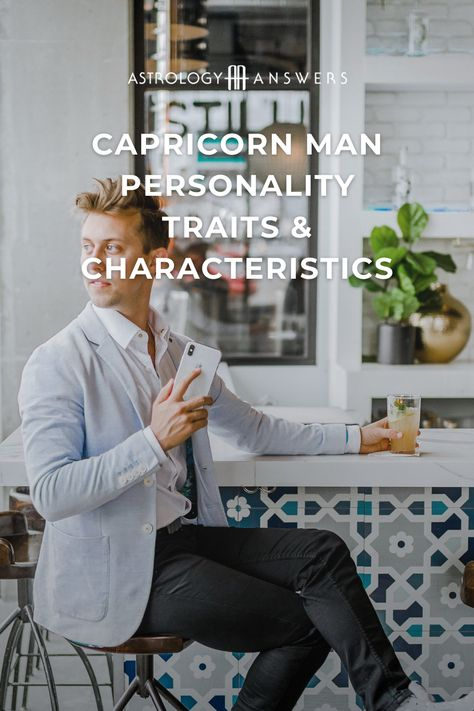 The #Capricorn sign offers him a strong and intimidating personality that can allow a man born under its sign to achieve great success and be a formidable leader. Learn everything you need to know about the #Capricornman in today's article. #capricornastrology #astrology #astrologyanswers #astrologypersonalitity #zodiacpersonalities