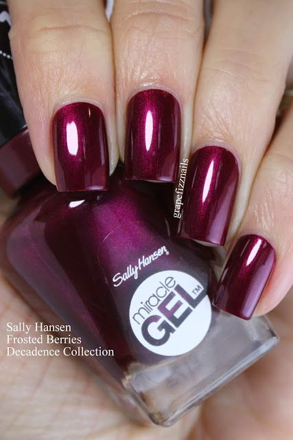 Sally Hansen Frosted Berries In 2019 Berry Nails Sally