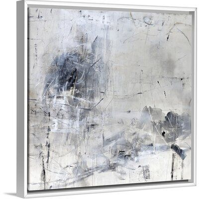 Orren Ellis Space Calculations Painting On Canvas Format White Floater Frame Size 37 7 H X 37 7 W X 1 75 D In 2020 Painting Abstract Framed Prints