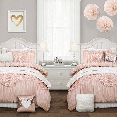 2pc Twin Xl Serena Comforter Set Blush Pink Lush Decor Size