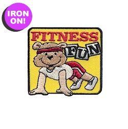 Fitness Fun Patch when earn My Best Self Brownie Badge from MakingFriends.com