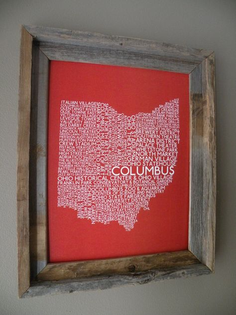 Columbus Ohio Word Map. $22.00, via Etsy.