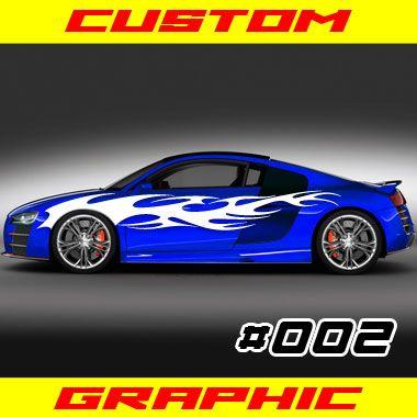 Custom Vehicle Graphics Flame Tribal These Vinyl Graphics - Decal graphics on vehiclescar graphicracing flag free decals shinegraffixcom