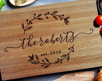 Custom Cutting Board Personalized Carving Wood Chopping Wedding Gift Closing 157 Boards