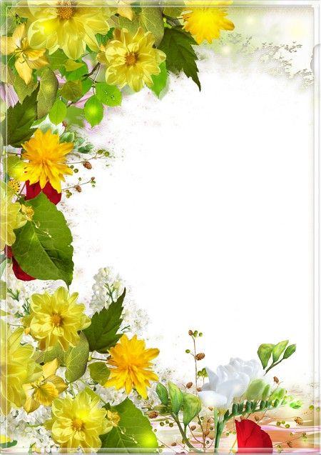 اطار ورد اصفر المرسال Floral Floral Wreath Wreaths