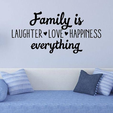 family is laughter love happiness wall quote decal whimsical vinyl