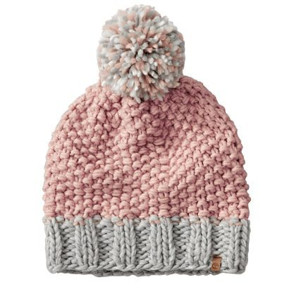 602f7332 Timberland Women's Color Block Cable-Knit Beanie Light Pink/Grey