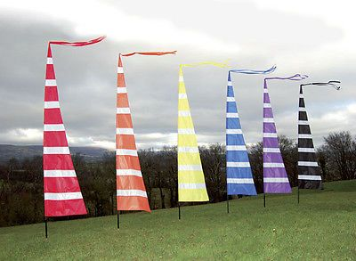 will fly on windsock pole camping ideal for festivals 3m Streamer Banner Flag