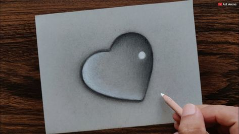 Heart Waterdrop drawing with Pencils - step by step - YouTube