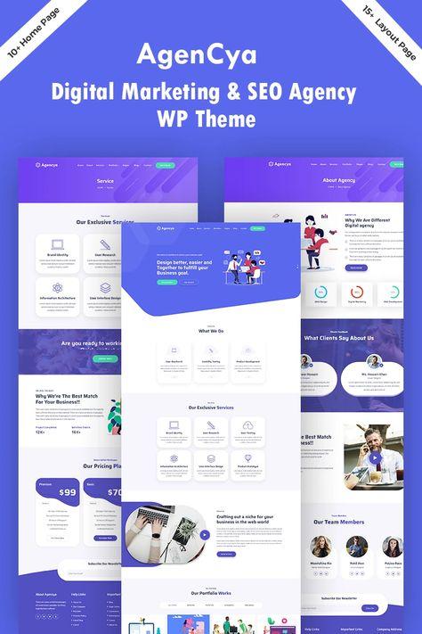 Agencya - Digital Marketing & SEO Agency WordPress Theme #96089