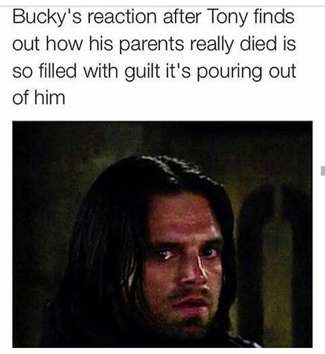 """He only knows Tony as """"the guy who's parents I killed"""" nothing else. Seeing Bucky watch this is worse than Steve seeing his friend watch his - visit to grab an unforgettable cool 3D Super Hero T-Shirt!"""