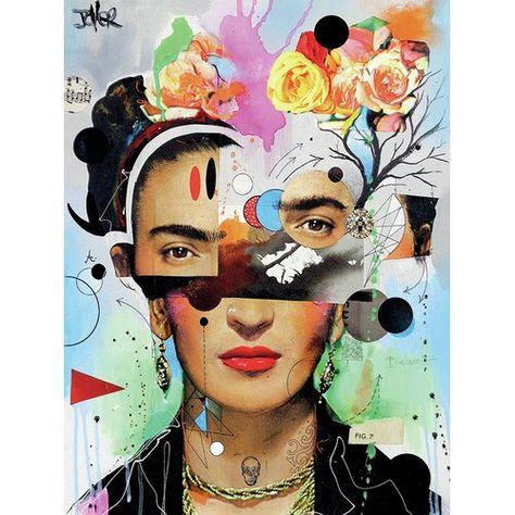 'Kahlo Anaylitica' Graphic Art Print
