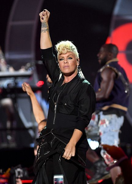 Pink performs onstage during the 2017 iHeartRadio Music Festival at T-Mobile Arena on September 22, 2017 in Las Vegas, Nevada.