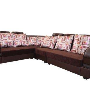 L Shaped Corner Sofa Tv Handle C Plus T Maroon Digital Spencer 3 1 1 Sofa Set With 5 Big Cushions 6 Small Schiffskabin In 2020 Wooden Sofa L Shaped Sofa Big Cushions