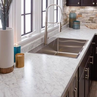 Vt Dimensions Formica 10 Ft Carrara Bianco Straight Laminate Kitchen Countertop Lowes Com In 2020 Laminate Kitchen Kitchen Countertops Laminate Countertops