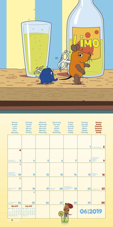 amazon der kalender mit der maus 2019 posterkalender children 39 s books. Black Bedroom Furniture Sets. Home Design Ideas