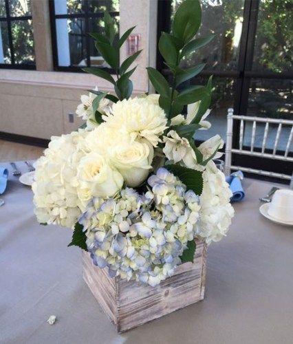 30 Ideas For Wedding Table White Blue Center Pieces Wedding Boy