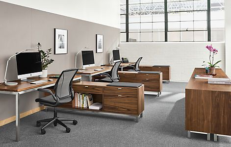 Copenhagen File Storage Benches With Cushion Benching Systems