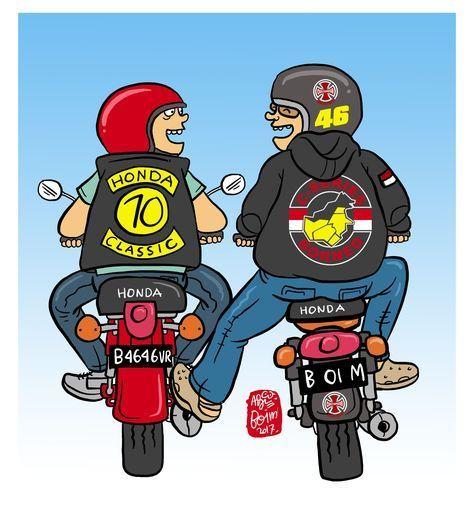 45 Ideas For Motorcycle Logo Cartoon Cartoon Ideas Logo Motorcycle Motorcyclesshop Kartun Seni Sepeda Motor Animasi