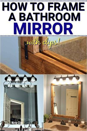 How To Build A Diy Frame To Hang Over A Bathroom Mirror In 2020 Simple Bathroom Mirror Frame Diy Bathroom Mirror Frame