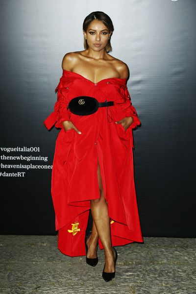 Kat Graham attends the Vogue Italia New Beginning Party during Milan Fashion Week Spring/Summer 2018.