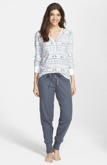 Free shipping and returns on PJ Salvage Fair Isle Thermal Pajamas at Nordstrom.com. Supersoft thermal pajamas with a Fair Isle print top and relaxed-fit bottoms encourage hours of lounging.