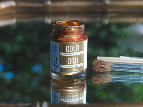 How To Gild A Mirror Either Using Spray Paint Gold Leaf