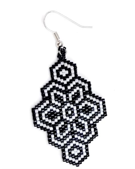 Brick stitch pattern, Miyuki Delica earrings, seed beads earrings, perles, DIY