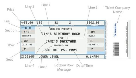 The 25+ best Fake ticket generator ideas on Pinterest Ticket - concert ticket maker