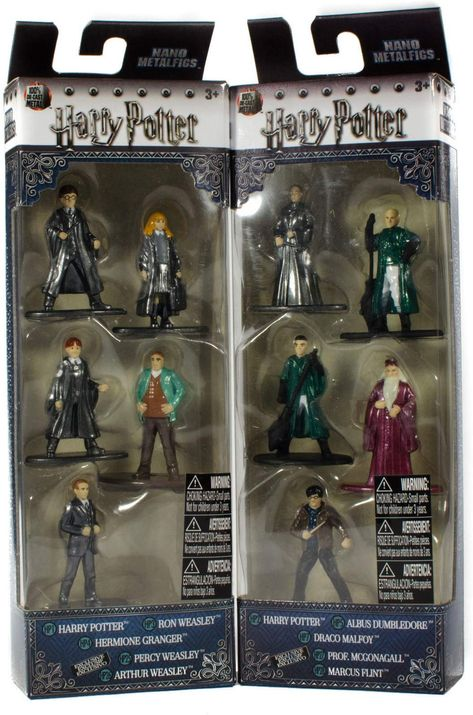 Nano Metalfigs Harry Potter Die-Cast 5 Pack Mini Figures Collector Sets-Lot of 2