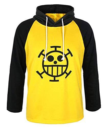 CoolChange Chandail One Piece de Trafalgar Law avec Le Dessin du Jolly Roger de l/équipage des Pirates Heart Taille S