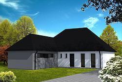 Maison avec toiture 4 pans. | Maison | Pinterest