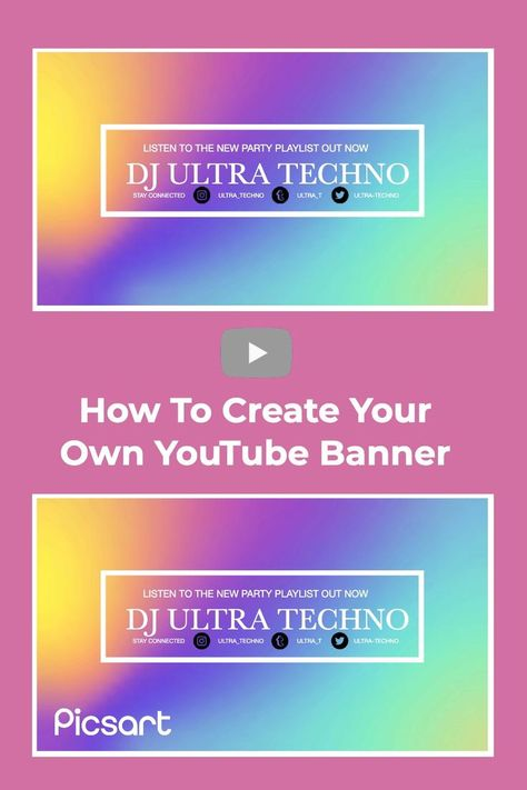 Learn from Picsart Artist Pixeel on how to use Picsart to create your own YouTube banner. #YouTube #YouTubeBanner #YouTubeChannel