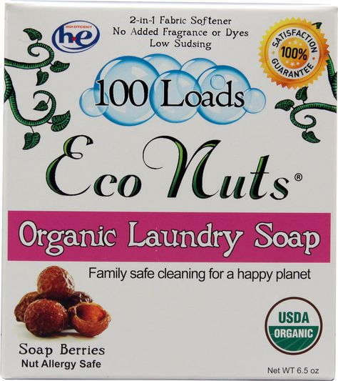 Eco Nuts Organic Laundry Detergent Fragrance Free 100 Loads