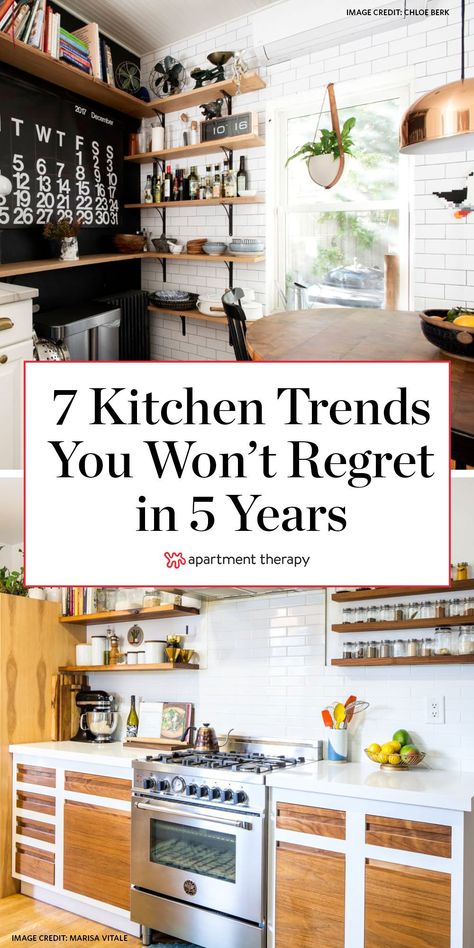 Here are 7 kitchen upgrades you won't regret in five years, according to pros. #kitchenideas #kitchentrends #kitchendecor #kitchens #homeprojects #renovating #timelesskitchens