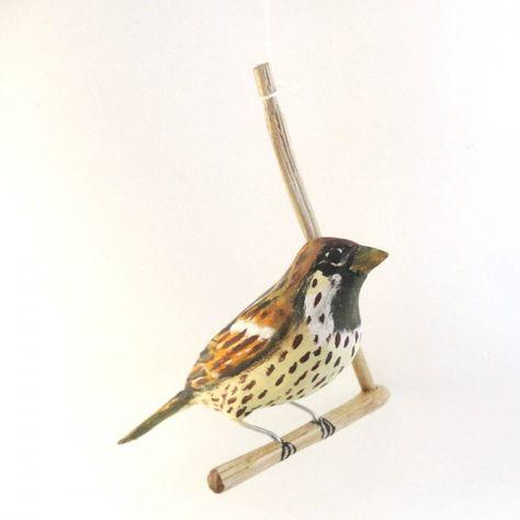 Pássaro de Madeira Pardal