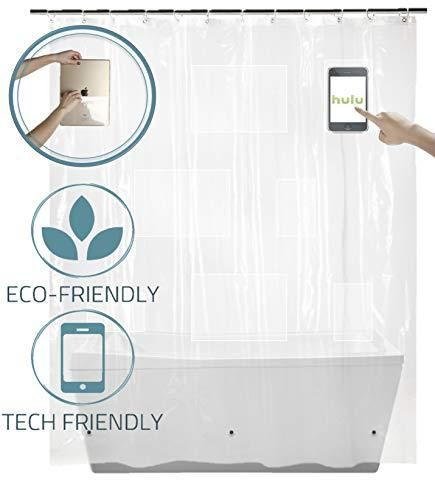 Shower Curtain With Pockets Clear Shower Curtain Liner For