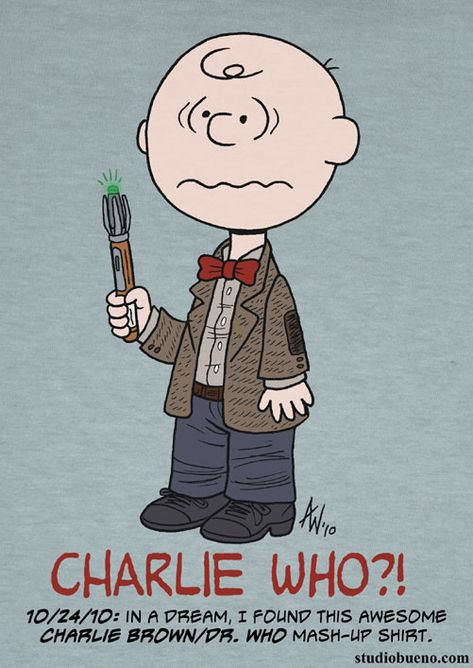 Charlie Brown meets Dr. Who