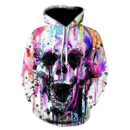 SAGRFDH Mens Full-Zip Hooded Cartoon Fleece Sweatshirt
