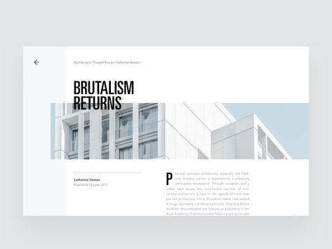 Architecture Blog Article Layout