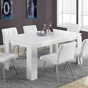 Hollow Core 36 X 60 Dining Table In White Monarch Specialties I
