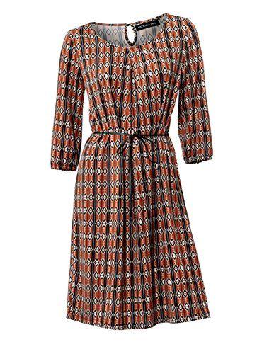 Patrizia Dini Damen Designer Kleid Orange Bunt Grosse 42 Designerkleid Sommerkleid Kleid Orange
