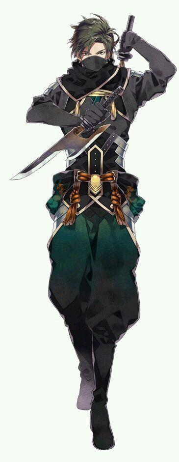 Male Anime Ninja : anime, ninja, Servant, Anime, Character, Design,, People,
