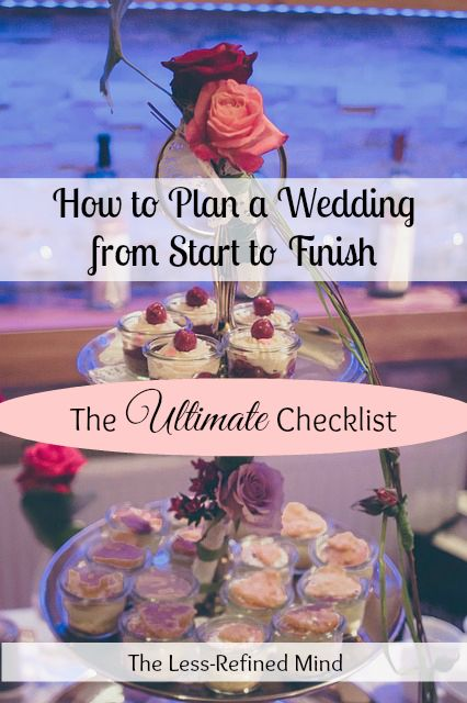 Your detailed wedding checklist to help you plan your day from start to finish. #weddingplanning