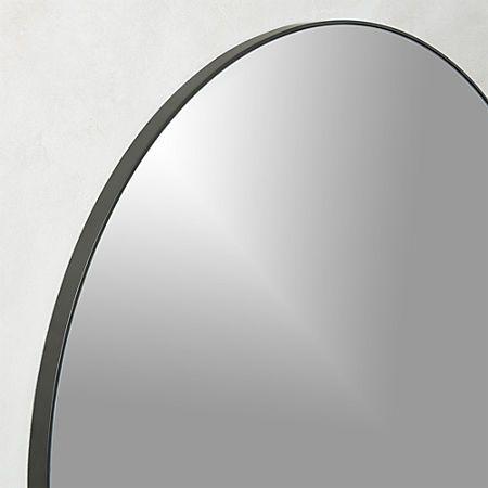 Infinityrndmirror36inblkrof17 Round Wall Mirror Mirror Wall Mirror