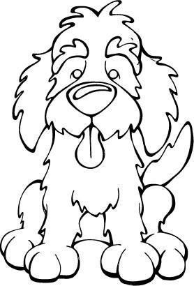 Labradoodle Decal Dog Animal Coloring Pages Dog Coloring Page