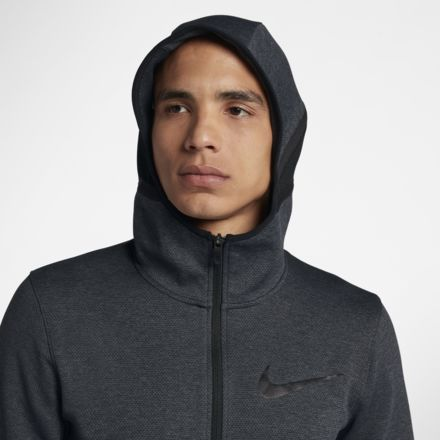 nike therma hoodie full zip black