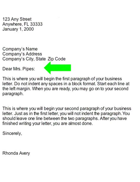 collection salutation business letter part paragraphs for letters - leave letter